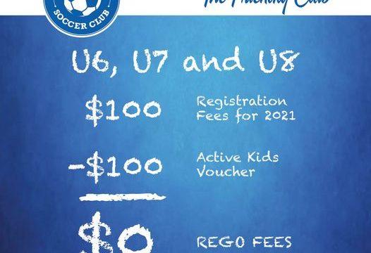 U6, U7 & U8 rego $100